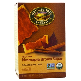 Nature\'s Path, Organic, Frosted Toaster Pastries, Maple Brown Sugar, 6 Tarts, 52 g Each - iHerb.com