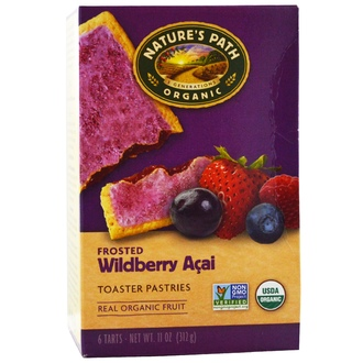 Nature\'s Path, Organic Frosted Toaster Pastries, Wildberry Acai, 6 Tarts, 52 g Each - iHerb.com