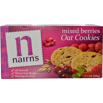 Nairn\'s Inc, Oat Cookies, Mixed Berries, 7.1 oz (200 g) - iHerb.com