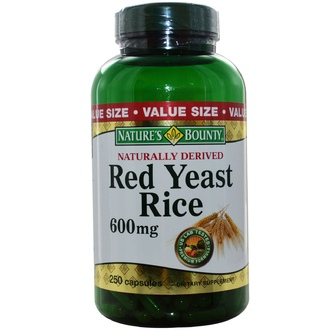 Nature\'s Bounty, Red Yeast Rice, 600 mg, 250 Capsules - iHerb.com