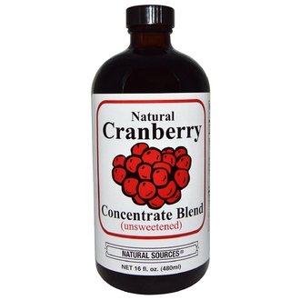 Natural Sources, Natural Cranberry Concentrate Blend, Unsweetened, 16 fl oz (480 ml) - iHerb.com