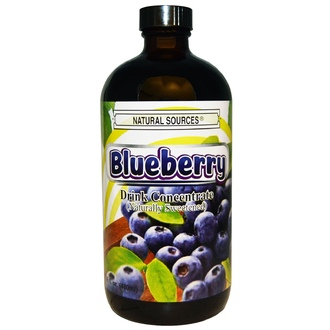 Natural Sources, Blueberry Drink Concentrate, Naturally Sweetened, 16 fl oz (480 ml) - iHerb.com