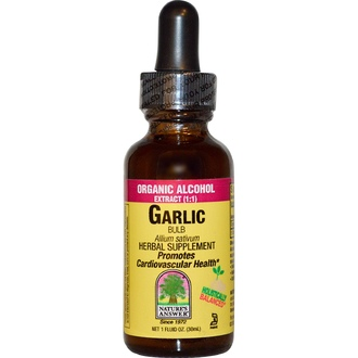Nature\'s Answer, Garlic Bulb, Organic Alcohol Extract, 1 fl oz (30 ml) - iHerb.com