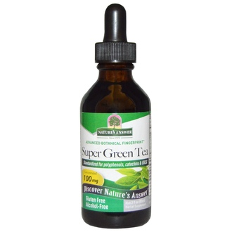 Nature\'s Answer, Super Green Tea, Alcohol-Free, 2 fl oz (60 ml) - iHerb.com