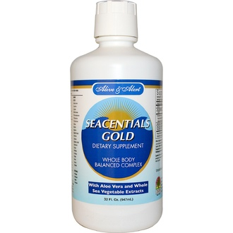 Nature\'s Answer, Добавка для активност и бодрости с морскими минералами Seacentials Gold, 947 мл - iHerb.com