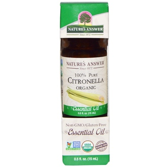 Nature\'s Answer, Organic Essential Oil, 100% Pure Citronella, 0.5 fl oz (15 ml) - iHerb.com