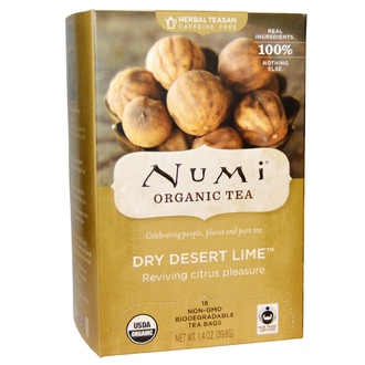 Numi Tea, Organic Herbal Teasans, Dry Desert Lime Tea, 18 Tea Bags, 1.4 oz (39.6 g) Each  - iHerb.com