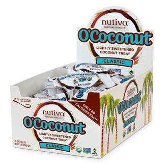 Nutiva, O\'Coconut, Lightly Sweetened Coconut Treat, Classic, 24 Pieces, 0.5 oz (14 g) Each - iHerb.com
