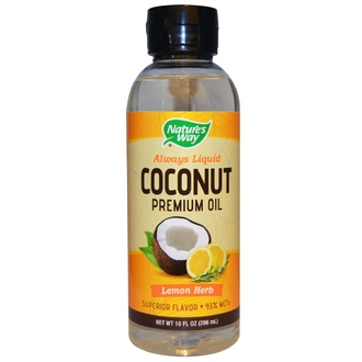 Nature\'s Way, Coconut Premium Oil, Lemon Herb, 10 fl oz (296 ml) - iHerb.com