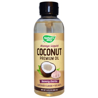 Nature\'s Way, Coconut Premium Oil, Savory Garlic, 10 fl oz (296 ml) - iHerb.com