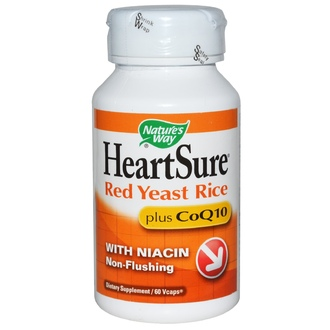 Nature\'s Way, HeartSure, Red Yeast Rice, Plus CoQ10, 60 Vcaps - iHerb.com
