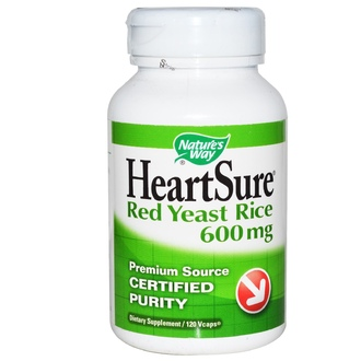 Nature\'s Way, HeartSure, Red Yeast Rice, 600 mg, 120 Vcaps - iHerb.com