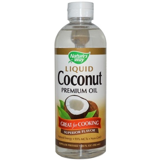 Nature\'s Way, Liquid Coconut, Premium Oil, 20 fl oz (592 ml) - iHerb.com