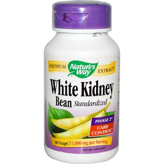 Nature\'s Way, White Kidney Bean Standardized, 60 Vcaps - iHerb.com