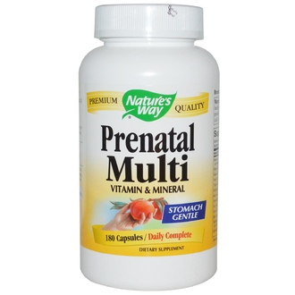 Nature\'s Way, Prenatal Multi, Vitamin & Mineral, 180 Capsules - iHerb.com