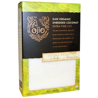 Ojio, Raw Organic Shredded Coconut, Extra Fine Cut, 12 oz (341 g) - iHerb.com
