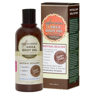 Out of Africa, Vanilla Shea Butter Body Oil, 9 fl oz (266 ml) - iHerb.com