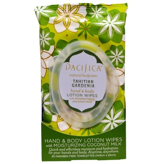 Pacifica, Hand & Body Lotion Wipes Tahitian Gardenia, 30 Biodegradable Towelettes - iHerb.com