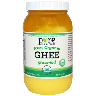 Pure Indian Foods, Ghee, 100% Organic Grass-Fed, 15 oz (425 g) - iHerb.com