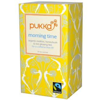 Pukka Herbs, Morning Time, Caffeine Free, 20 Tea Sachets, 1.06 oz (30 g) - iHerb.com