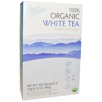 Prince of Peace, 100% Organic White Tea, 100 Sachets, 1.8 g Each - iHerb.com