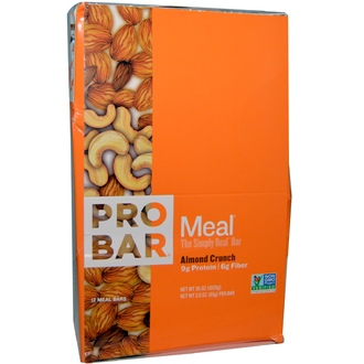 ProBar, Meal Bar, Almond Crunch, 12 bars, 3 oz (85 g) Per Bar - iHerb.com