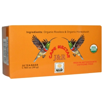 Port Trading Co., J & R Cape Nectar, Caffeine Free, 20 Tea Bags, 1.765 oz (50 g) - iHerb.com