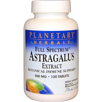 Planetary Herbals, Astragalus Extract, Full Spectrum, 500 mg, 120 Tablets - iHerb.com