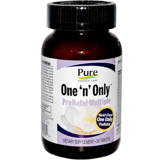 Pure Essence, One \'n\' Only, PreNatal Multiple, 30 Tablets - iHerb.com