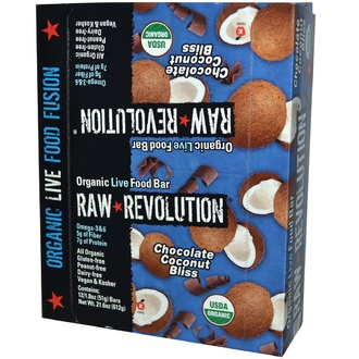 Raw Revolution, Organic Live Food Bar, Chocolate Coconut Bliss, 12 Bars, 1.8 oz (51 g) Each - iHerb.com