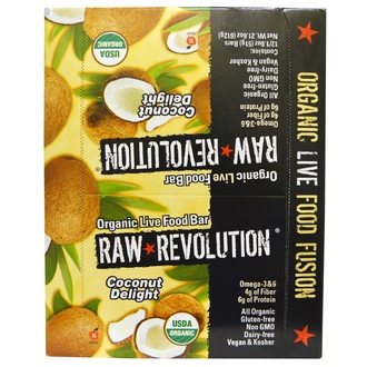 Raw Revolution, Organic Live Food Bar, Coconut Delight, 12 Bars, 1.8 oz (51 g) Each - iHerb.com