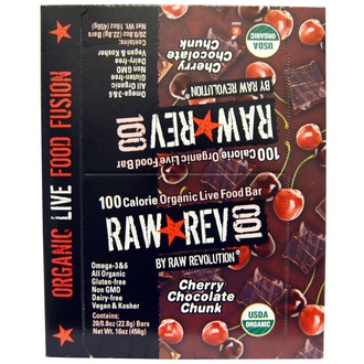 Raw Revolution, Raw Rev 100, Cherry Chocolate Chunk, 20 Bars, 0.8 oz (22.8 g) Each - iHerb.com