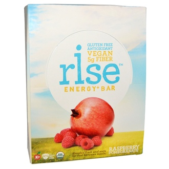 Rise Bar, Organic, Energy + Bar, Raspberry Pomegranate, 12 Bars, 1.6 oz (45 g) Each - iHerb.com
