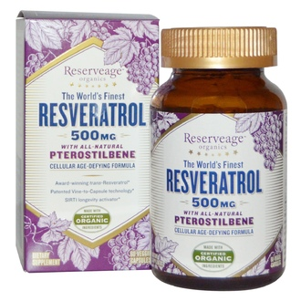 ReserveAge Nutrition, Resveratrol With All-Natural Pterostilbene, 500 mg, 60 Veggie Caps - iHerb.com