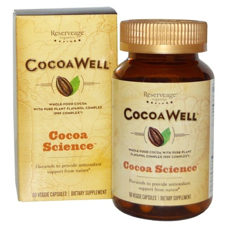 ReserveAge Nutrition, CocoaWell, Whole-Food Cocoa with Pure Plant Flavanol Complex, 60 Veggie Caps - iHerb.com