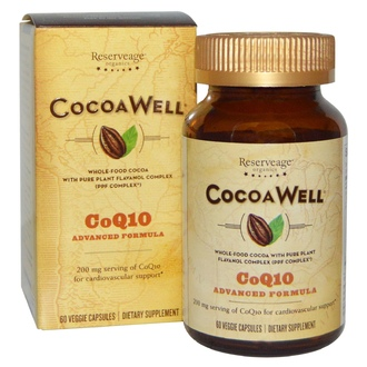 ReserveAge Nutrition, CocoaWell, CoQ10, Advanced Formula, 60 Veggie Caps - iHerb.com