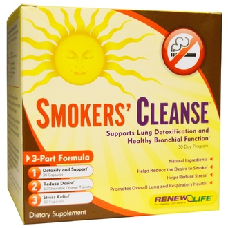 Renew Life, Smokers\' Cleanse, 30 Day Program, 3-Part Formula - iHerb.com