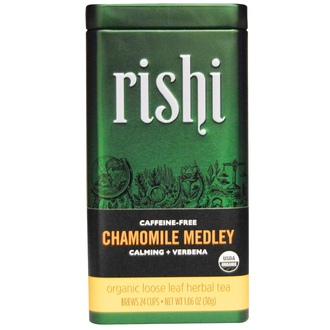 Rishi Tea, Organic Loose Leaf Herbal Tea, Chamomile Medley, Caffeine Free, 1.06 oz (30 g) - iHerb.com
