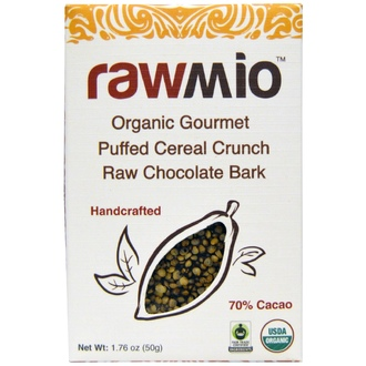 Rawmio, Organic Gourmet Puffed Cereal Crunch Raw Chocolate Bark, 1.76 oz (50 g) - iHerb.com