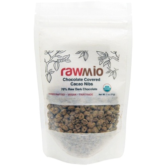 Rawmio, Chocolate Covered Cacao Nibs, 2 oz (57 g) - iHerb.com