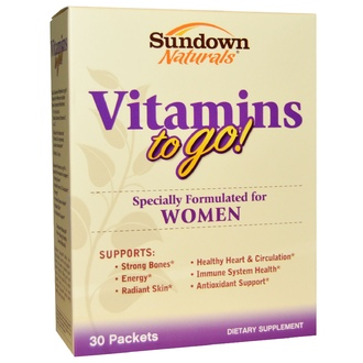 Rexall Sundown Naturals, Vitamins to Go! for Women, 30 Packets - iHerb.com
