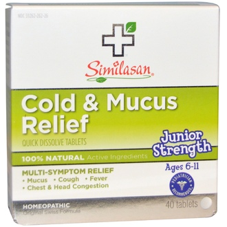 Similasan, Cold & Mucus Relief, 40 Quick Dissolve Tablets - iHerb.com