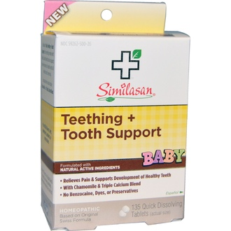 Similasan, Baby Teething + Tooth Support, 135 Quick Dissolving Tablets - iHerb.com