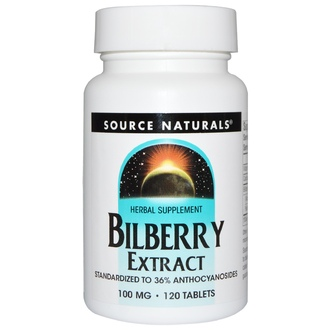 Source Naturals, Bilberry Extract, 100 mg, 120 Tablets - iHerb.com