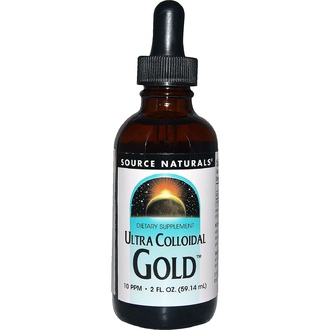 Source Naturals, Ultra Colloidal Gold, 10 PPM, 2 fl oz (59.14 ml) - iHerb.com