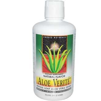 Source Naturals, Aloe Verité, Whole-Leaf Aloe Vera Drink, Natural Flavor, 33.8 fl oz (1 Liter) - iHerb.com