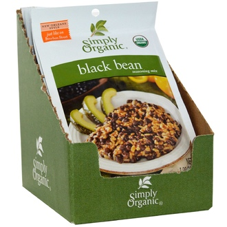 Simply Organic, Black Bean Seasoning Mix, 12 Packets, 1.00 oz (28 g) Each - iHerb.com