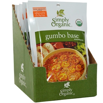 Simply Organic, Gumbo Base Seasoning Mix, 12 Packets, 1.27 oz (36 g) Each - iHerb.com