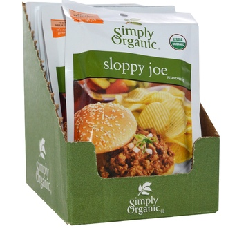 Simply Organic, Sloppy Joe Seasoning, 12 Packets, 1.41 oz (40 g) Each - iHerb.com