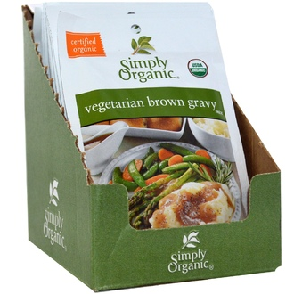 Simply Organic, Vegetarian Brown Gravy Mix, 12 Packets, 1.00 oz (28 g) - iHerb.com